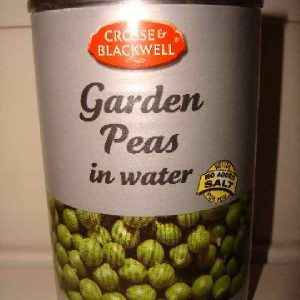 Garden peas in water