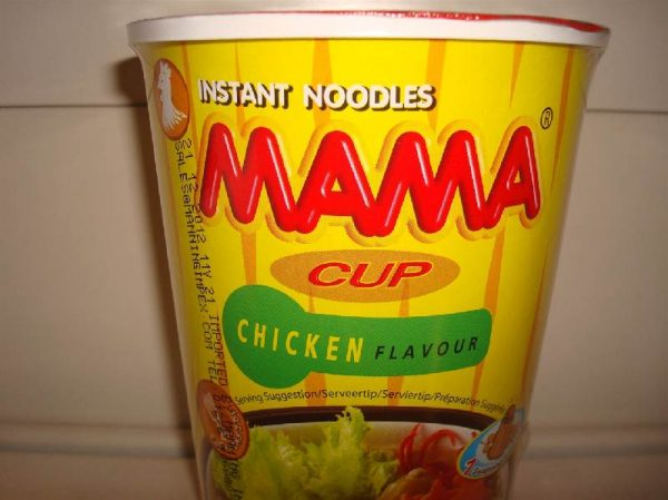Mama Chicken Flavour cup noodles