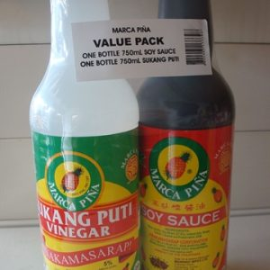 Marca Pina Vinegar (Value Pack with Soy Sauce...