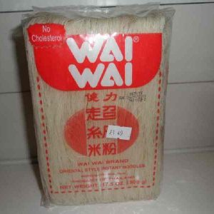 Wai-Wai brand Oriental style noodles (cholesterol free)Red Pack