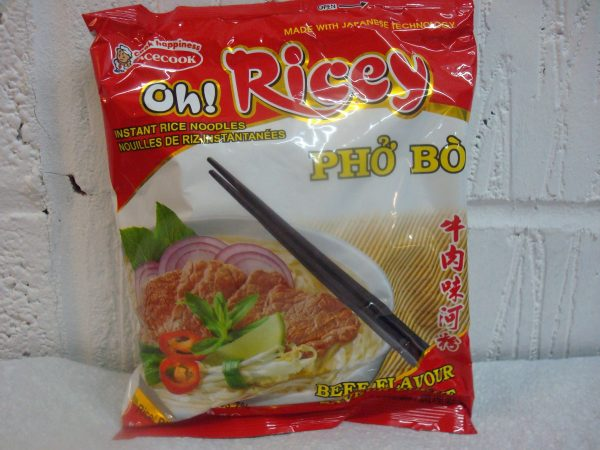 AceCook Oh Ricey Pho' Bo Beef Flavour Noodles