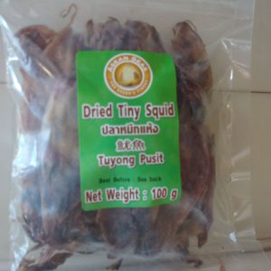 Asean Seas Dried Tiny Squid 100g. NEW ( Tuyong Pusit)