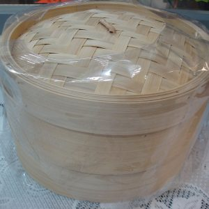 Bamboo Steamer Set (2 x 10″ Steamers + 1 Lid) New addition