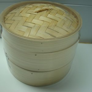 Bamboo Steamer Set (2 x 8″ Steamers + 1 Lid)  New Addition