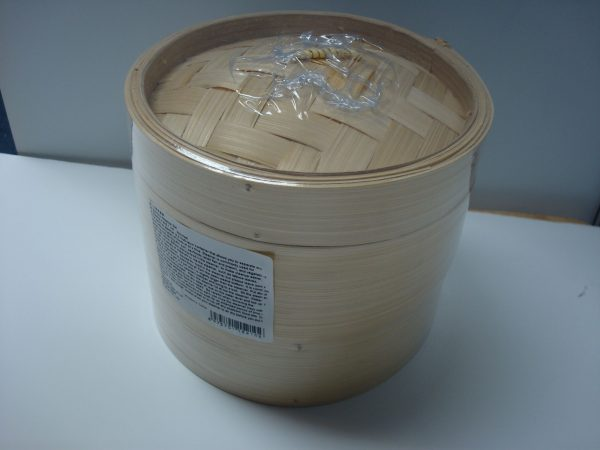 """Bamboo Steamer Set (2x 6""""Steamers + 1 Lid) NEW Addition"""