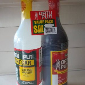 Datu Puti brand  Value Pack – 1 vinegar and 1 soy sauce. Back in stock.