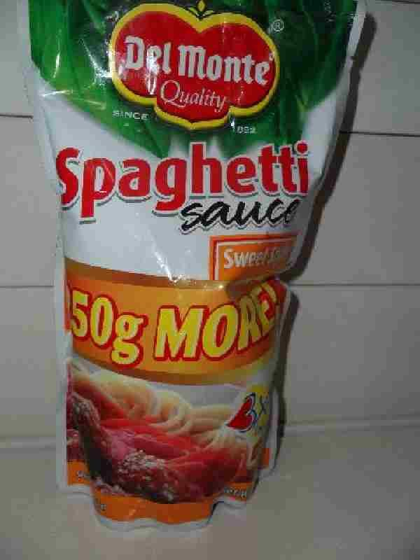 Del Monte brand Spaghetti Sauce  traditional sweet style 1kg
