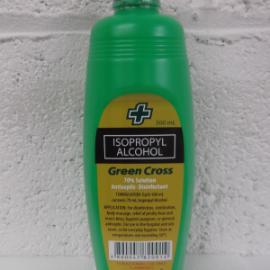Green Cross Alcohol 500Ml.40% Solution Antiseptic-Desinfectant
