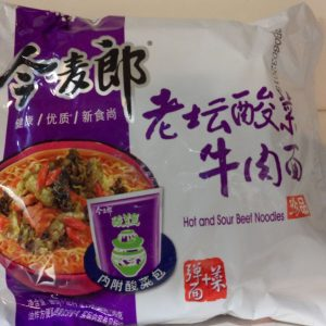Jinmailang  Hot & Sour Beef Noodles 121g
