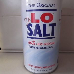 Lo Salt. Great tasting salt with 66% less sodium