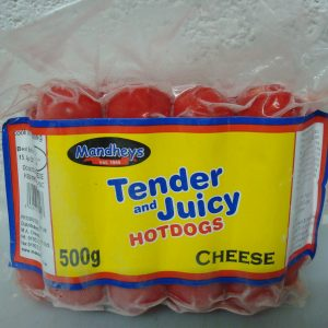 Mandhey's Cheese Tender Juicy Hotdogs (sausages) Back in Stock
