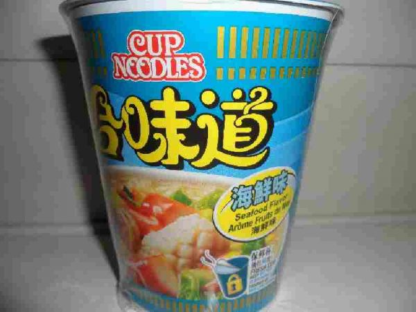 Nissin brand -Seafood  flavor cup noodles