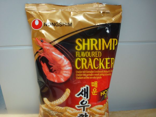 Nong Shim Shrimp Flavoured Crackers Hot & Spicy