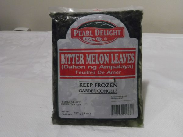 Pearl Delight frozen Bitter Melon Leaves (Dahon ng Ampalaya). NEW