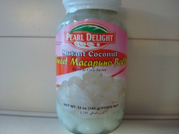 Pearl Delight Macapuno balls. Young coconut Meat