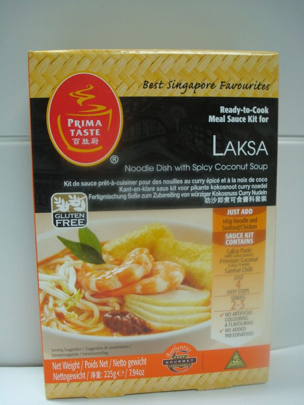 Prima Taste Laksa Noodle Kit. -  A noodle dish with spicy coconut soup.Reduced Price Date Sept. 11,2016