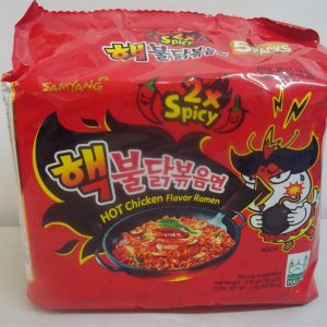 2x Spicy Hot Chicken Flavor Ramen,Challenge Noodles,Samyang,Korean 5Packets