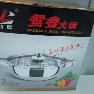 Stainless Chafing Dish for cooking Mandarin Duck. NEW ADDITION