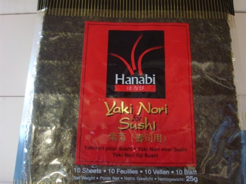 Yaki Nori seaweed wrapper for making sushi