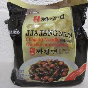 JJajang Men Instant Noodles with Black Soy Sauce Paldo Korean Noodles 5Packs