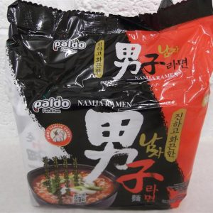 Ramen Namja Instant Noodles with Hot & Spicy Garlic Flavour Paldo Korean Noodles 5Packs