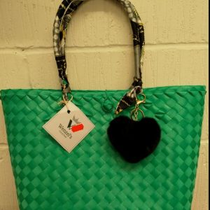 Traditional Native Bag, Bayong, From the Philippines, Green Colour