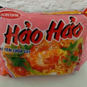 Sour Hot Shrimp Flavour Noodles, Ha'o Ha'o Ace Cook Brand Mi Tom Chua Cay
