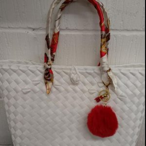 Ethnic Native Bag, Bayong, From the Philippines. White Colour