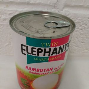 Rambutan in Syrup,Fruit in Syrup,Sweet Fruit,Twin Elephant Product of Thailand