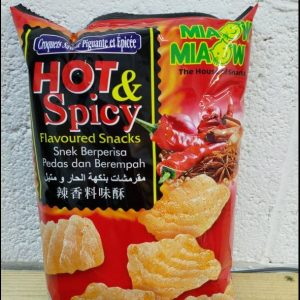 Hot & Spicy Flavoured Snacks,Miaow,Snek Berpe...