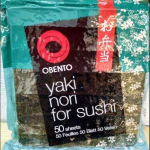 Obento Yaki Nori for Sushi Wrapper 50 Sheets for Restaurant