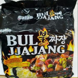 Bul JJajang Instant Noodle with Spicy Black Bean Sauce,Korean Paldo Noodles