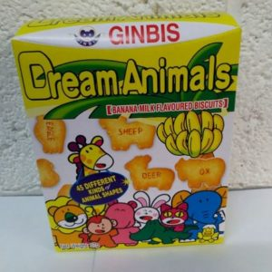 Ginbis Banana Flavoured Biscuits