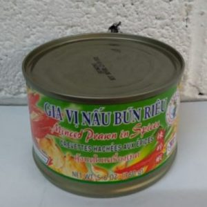 Minced Prawns in Soybean Oil and Spices, Nang Fah Thai Product