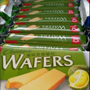 Durian Flavour Cream Wafers