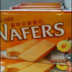 Peach Flavour Cream Wafers,Garden Brand