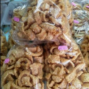 Thai Home Made Pork Cracklings, or Chicharon,Crisp...