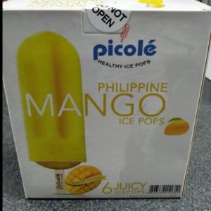 Mango Flavour,Picole Healthy Ice Pops, Product of the Philippines 6pcs