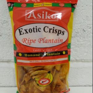 Ripe Plantain Mild Chilli,Snacks, Asiko Exotic Crisps
