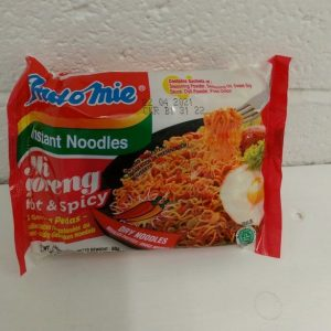 Indo-Mie Mi Goreng Hot & Spicy,Instant Noodles,Product of Indonesia