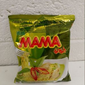 Mama Green Curry Flavour Instant Noodles Packet