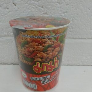 Mama Instant Cup Noodles Spicy,Basil Stir-Fried Fl...