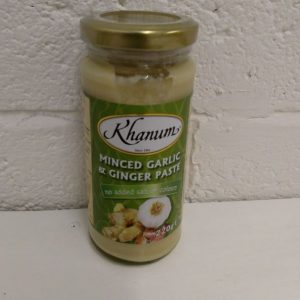 Khanum Minced Garlic & Ginger Paste 220g.